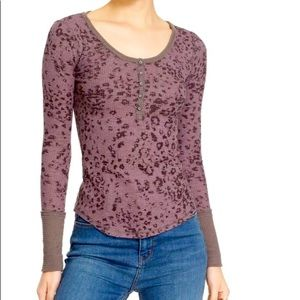 We The Free Davis Mottled Thermal Henley Top